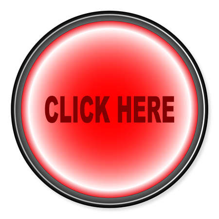 click button: Click Button button in red over a white background Illustration