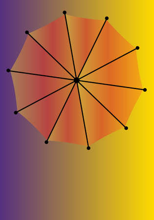 brolly: An umberella over a colored background with copy space