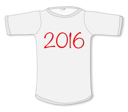 sleeved: A sleeved T shirt with the legend 2016
