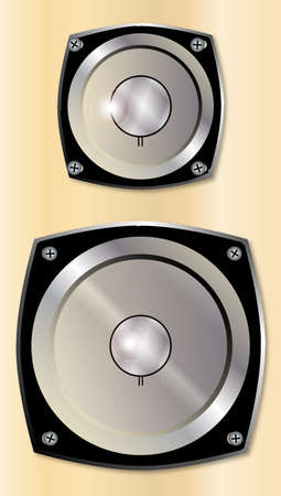 hifi: A typical music hi-fi speaker cabinet with two speakers