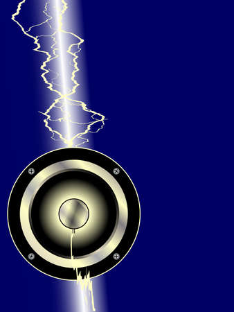 struck: A electric guitar driver being struck by a lightning bolt Illustration