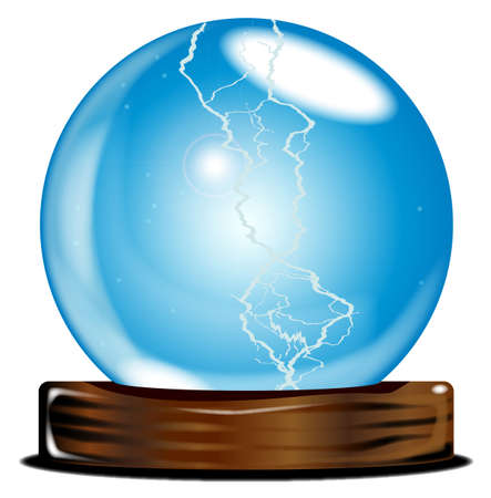 foretell: A crystal ball over over a white background