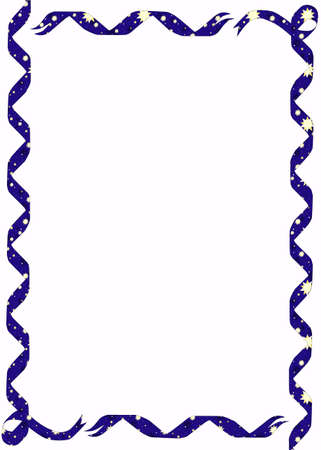 ribon: A Star Ribbon Border background over a white background