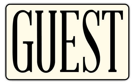congress: A guest badge with text over a white background