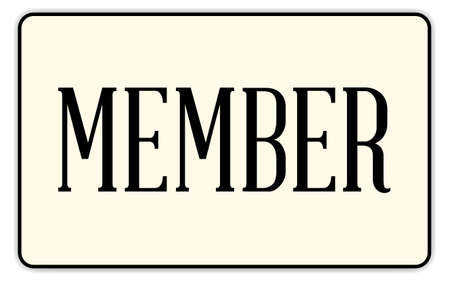 congress: A member badge with text over a white background