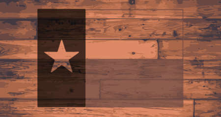 texas state flag: Texas State Flag branded onto wooden planks