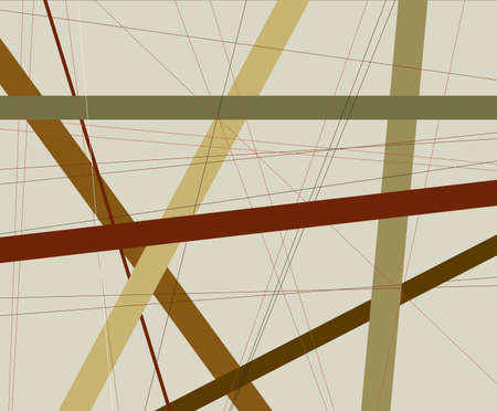 criss: An earth tone background with coloured earth tone criss cross items.