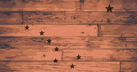 branded: Alaska State Flag branded onto wooden planks Illustration