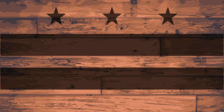 dc: Washington D.C. Flag branded onto wooden planks