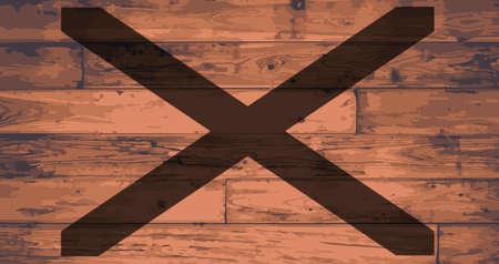 alabama flag: Alabama State Flag branded onto wooden planks