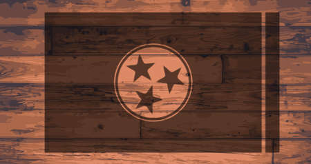 BRANDED: Tennessee State Flag branded onto wooden planks