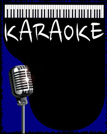 vocalist: A karaoke music style background for a poster