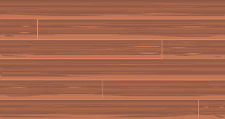 floorboards: A set of medium brown wooden boards as a background Illustration