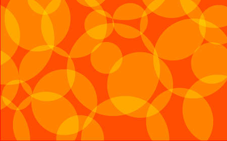 discs: Interlocking circles in yellow and orange over a red background
