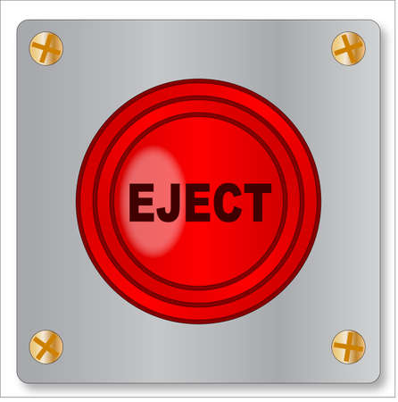 The big red emergency eject button on a white background Illustration