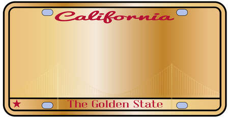 motto: California License Plate with motto over a white background