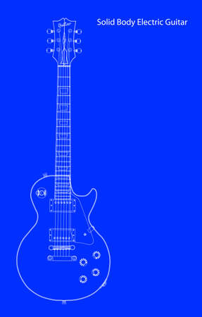 gibson: The definitive rock and roll guitar in blueprint Illustration