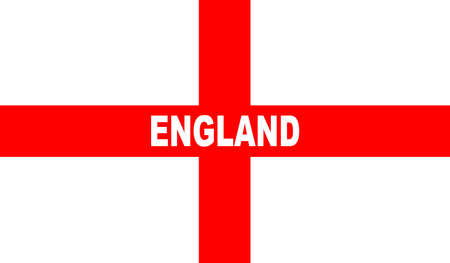 george: The flag of England and Saint George with text Illustration