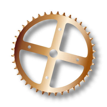 gearing: The front gearing cog of a bicycle.