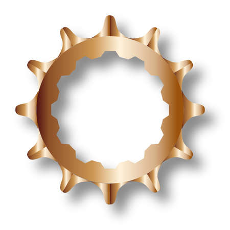 The rear driven cog of a bicycle. Illustration