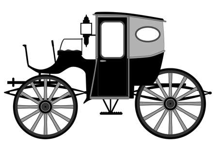 edwardian: A typical old style Victorian or Georgian style British carriage