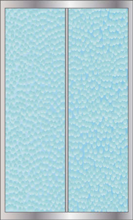 frosted: A shower screen with hammered effect glass dor