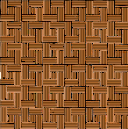 oblongs: A red brick parquet flooring pattern as a background.