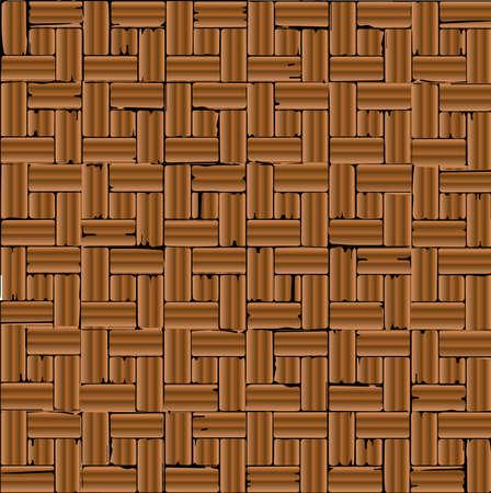 flooring: A red brick parquet flooring pattern as a background.