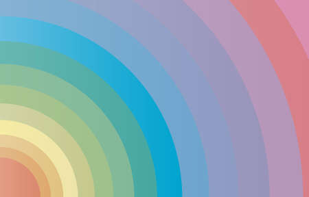 A circular array of bright colours as a fashion background Illustration