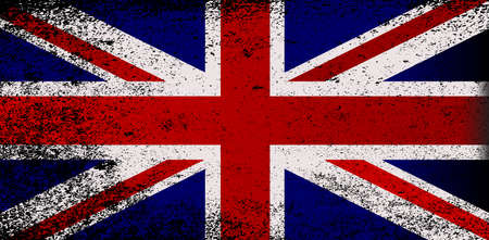 grunge union jack: The flag of Great Britain with heavy grunge
