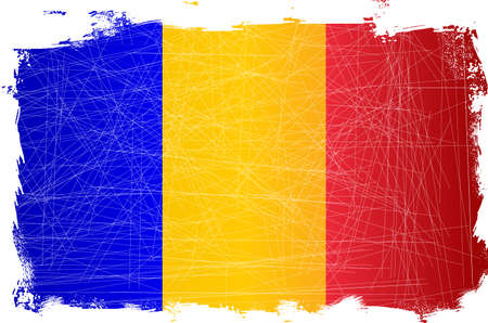 french flag: French flag set on a heavy grunge background
