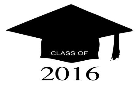 juniors: A cap with the legend Class of 2016 over a white background