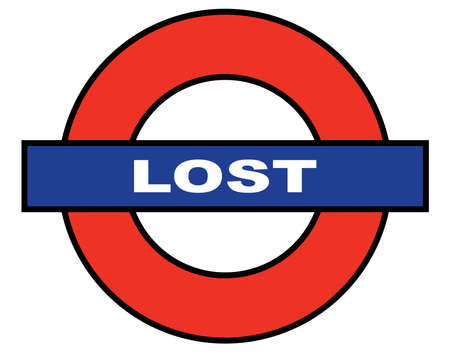 lost in space: A depiction of the London Underground with the word lost