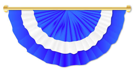 on white: Blue and White Bunting