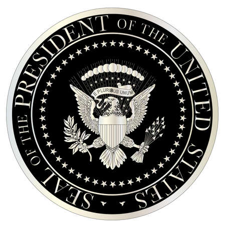 president of the usa: A depiction of the seal of the president of the United States of America