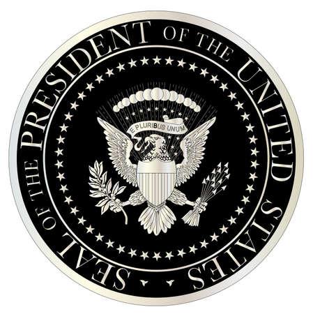 sellos: Una representación del sello del presidente de los Estados Unidos de América Vectores