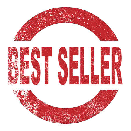 sales book: A red rubbr ink stamp with the message best seller Illustration
