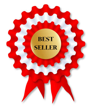 finalist: A red and white rosette over a white background Illustration