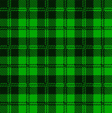 scott: Green and black tartan wool eaved material