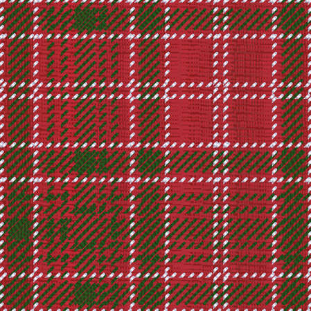 clan: A typical Scotish tartan style material Illustration