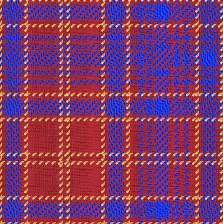 A typical Scotish tartan style material Illustration
