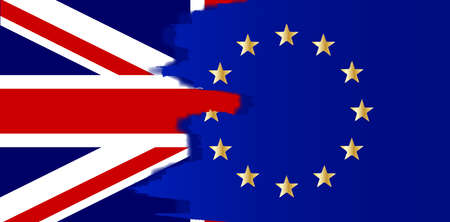 common market: Flag of the European Union blended with the Union Jack Illustration
