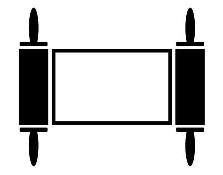 The Jewish Symbol Of Chai In Silhouette On A White Background