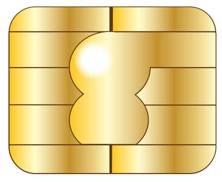 Gros plan d'une puce de carte de crédit Banque d'images - 48042691