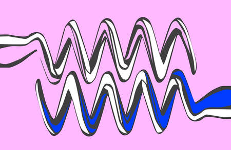 blades: The blades of a pink and blue corkscrews Illustration
