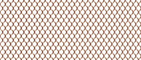 chain link fence: A typical chain link fence patern in metal bronze