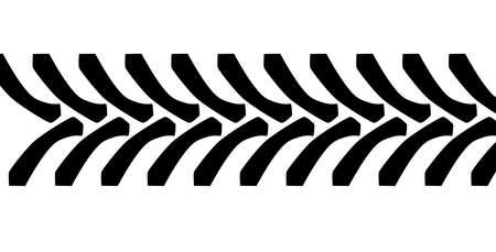 트랙터 타이어 트레드 마크는 흰색 배경 위에 절연