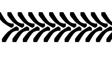 Tractor tyre tread marks isolated over a white background
