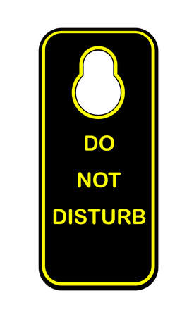 guest house: A door knob sign with the legend do not disturb