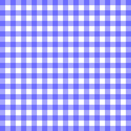 gingham: The pattern of a blue gingham table cloth Illustration